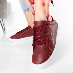 "Pantofi Sport ""MireaFashion"" Cod: A1812-4 WINE RED (H1)"