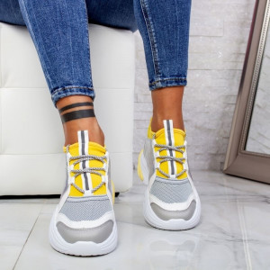 "Pantofi Sport ""MireaFashion"" Cod: ABC-309 YELLOW (K11-12)"