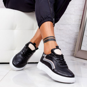 "Pantofi Sport ""MireaFashion"" Cod: N68 BLACK (C3)"