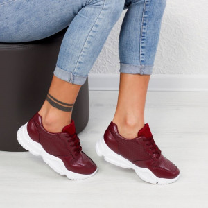 "Pantofi Sport ""MireaFashion"" Cod: W-6 WINE (AA31)"