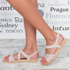 "Sandale ""MireaFashion"" Cod: 1858-1 BEIGE(D-6)"