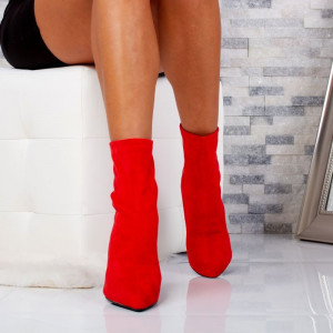 "Botine ""MireaFashion"" Cod: 36236-7 RED (F16)"