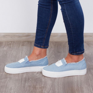 "Espadrile ""MireaFashion"" Cod: H2055 Lt.Blue (AA15)"