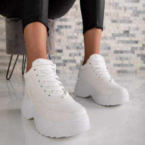 "Ghete ""MireaFashion"" Cod: LA57 WHITE (Q7)"