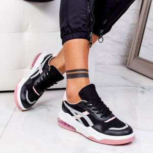 "Pantofi Sport ""MireaFashion"" Cod: 602 BLACK/PINK (P7)"