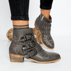 "Botine ""MireaFashion"" cod: F1208 GREY (O8)"