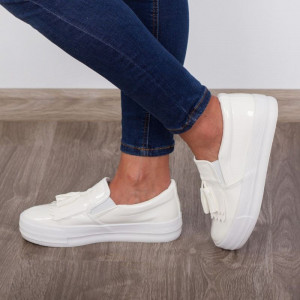 "Espadrile ""MireaFashion"" Cod: Z-3 White (i 15)"