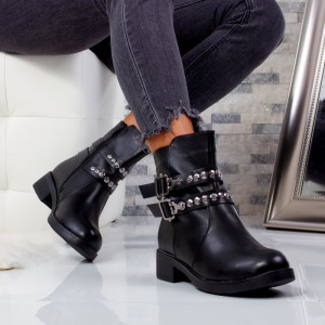 "Ghete ""MireaFashion"" Cod: H0019-1 BLACK (J4)"