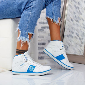 "Ghete Sport ""MireaFashion"" Cod: B9766 WHITE/GEM BLUE (M7)"