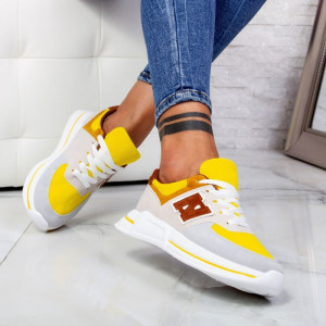 "Pantofi Sport ""MireaFashion"" Cod: ABC-311 YELLOW (N1)"