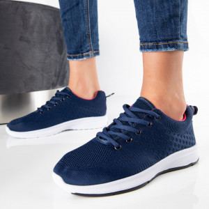 "Pantofi Sport ""MireaFashion"" Cod: HQ777 NAVY/FUCHSIA (O6)"