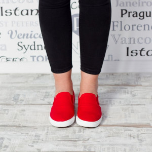 "Espadrile ""MireaFashion"" Cod: KL8503 Red (I8)(H11)"