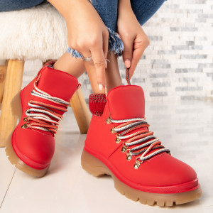 "Ghete ""MireaFashion"" Cod: FB2020-7 RED (R15)"