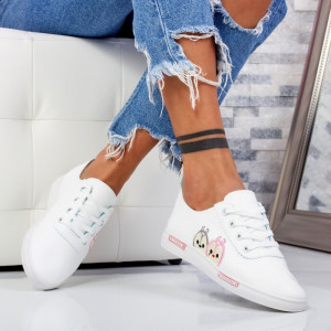 "Pantofi Sport ""MireaFashion"" Cod: HQ-22 WHITE/PINK (N7)"