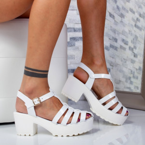 "Sandale ""MireaFashion"" Cod: 6-157 WHITE (C14)"