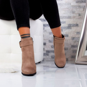"Botine ""MireaFashion"" Cod: 1104 KHAKI (K10)"
