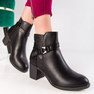 "Botine ""MireaFashion"" Cod: A996 BLACK (S15)"