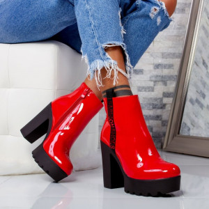 "Botine ""MireaFashion"" Cod: B525 RED (FF1-2)"