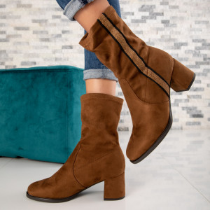 "Botine ""MireaFashion"" Cod: HFN-7916 CAMEL (R6)"
