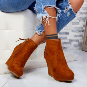"Botine ""MireaFashion"" Cod: XQ735 Camel (i3)"