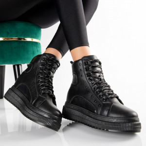 "Ghete ""MireaFashion"" Cod: JD-18 BLACK (N8)"