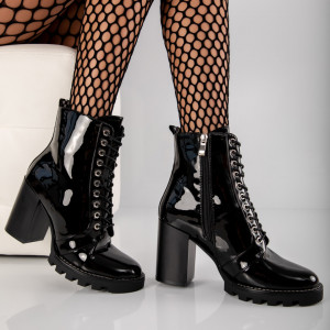 "Botine ""MireaFashion"" Cod: LA-88 BLACK (D12)"
