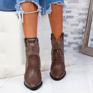 "Botine ""MireaFashion"" Cod: OM299-2 COFFEE (I1)"