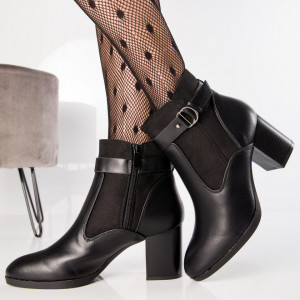 "Botine ""MireaFashion"" Cod: XQ190 BLACK (J3)"
