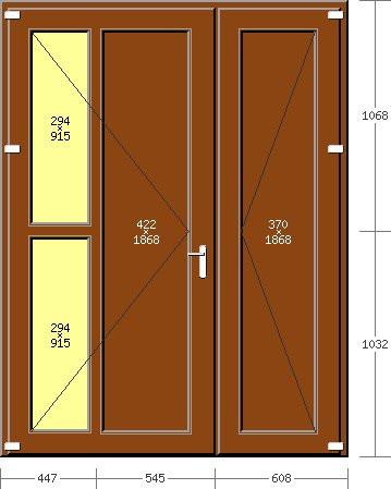 Portoncino PVC Rehau, 2 ante, modello ROMA, pellicolato 77 colori a scelta, 1600 x 2100, completa, pronta per montaggio, 2 ANTE