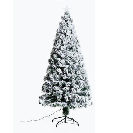 HomCom® Árvore de Natal Verde PVC Φ82x180cm