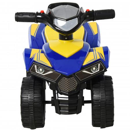 HOMCOM Quadriciclo elétrico para crianças +12 meses com sons de luzes 60x38x42 cm Azul