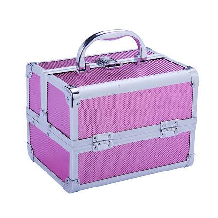 HOMCOM Mala Profissional em Alumínio Cor-de-rosa 15 x 15 x 20 cm