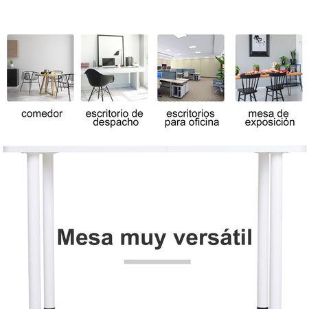 HOMCOM Mesa de jantar Mesa de cozinha multifuncional Mesa lateral Mesa 120x60x76cm Madeira