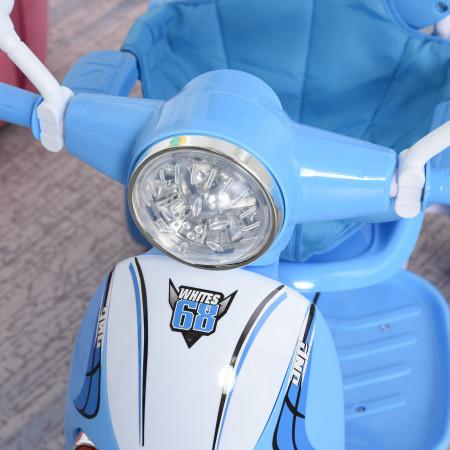 HOMCOM Triciclo para crianças acima de 3 anos, dobrável com luz e música 102x48x96 cm Azul