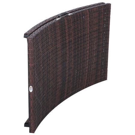Outsunny 2x espreguiçadeiras com mesa de vime dobrável para jardim ao ar livre espreguiçadeira chaise longue cadeira com almofadas de tampa marrom impermeável