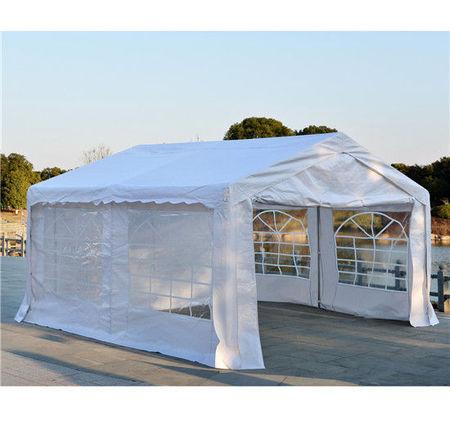 Outsunny Lona Pavilhão de Jardim para Campismo Festa ou Casamento Receção - Com 4 Janelas 2 Portas - 400x400x280 cm
