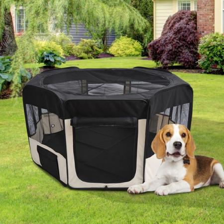 Parque Animais de estimação Dobrável 2 Medidas Brincadeira Treino Quarto Cão Cachorros