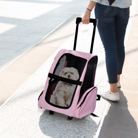 Carrinho de transporte Carrinho Cão 2 em 1 Mochila Carrinho 36 x 30 x 49 cm Animais de estimação Cão Gato