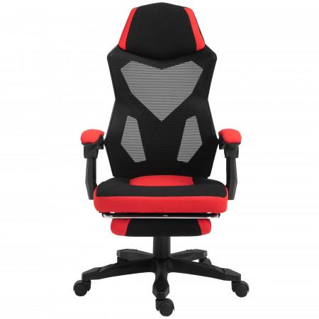 Vinsetto Cadeira de escritório reclinável altura ajustável até 135º 58x72x108-118 vermelho
