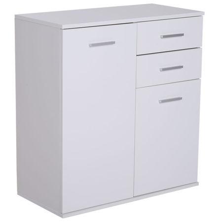 HOMCOM Armário Gabinete Consola Aparador Organizador de armazenamento multiuso para sala de estar com portas e gavetas 71x35x76cm