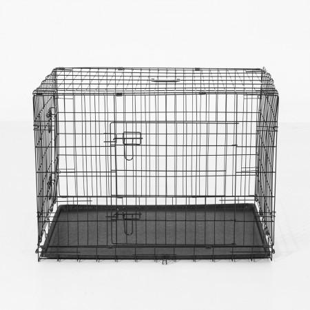 PawHut Gaiola de transporte, Cor: Preto, ABS Aço 106 x 71 x 76 cm com 1 Tabuleiro