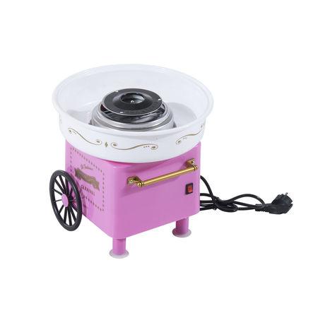 HOMCOM Máquina Algodão Doce Alumínio Cor-de-rosa 30 x 30 x 28 cm
