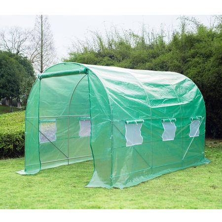 Outsunny® Estufa Viveiro Novo Verde Aço Plástico 350 x 200 x 200cm