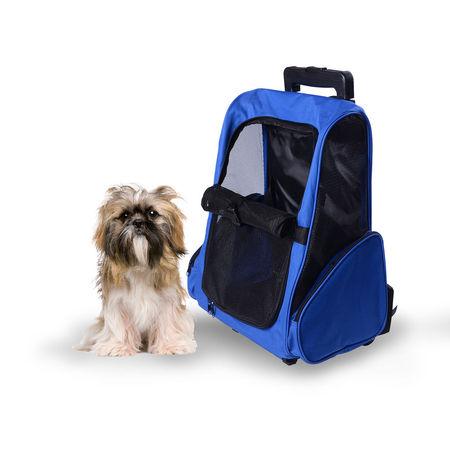Carrinho transporte cães 2 em 1 Mochila Carrinho 36x30x49 cm Mascote Cão Gato