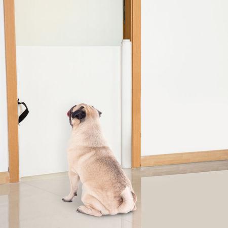 Barreira Separadora Animais de Estimação Ajustável Grade Cães bebés e Crianças Textileno - 115x82,5 cm