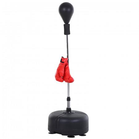 HOMCOM Pêra de boxe em pé com base estável ajustável em altura Ф48x136-154cm Preto