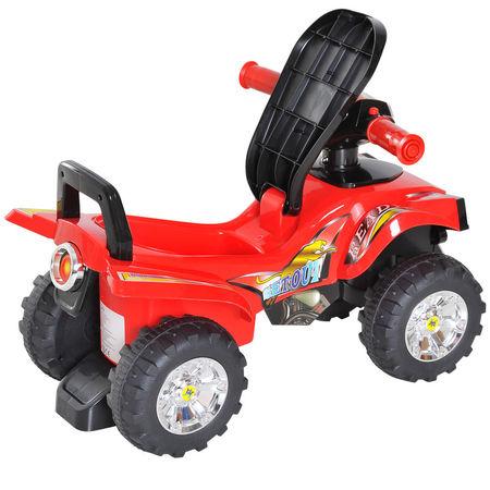 HOMCOM Quad passeio de criança Carro de bebê sem pedais brinquedo com chifre 60x38x42cm