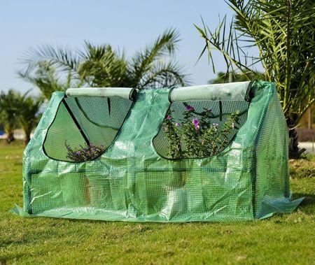 Estufa com Tubo de Aço e Plástico Jardim Varanda Cultivo de Plantas 120x60x60 cm