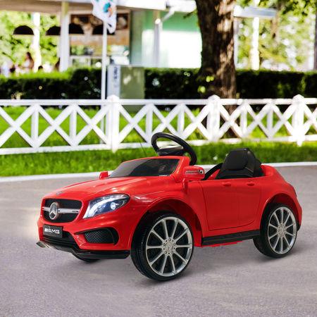 HOMCOM Carro Eléctrico Mercedes Benz GLA para Crianças acima de 3 Anos com Controlo Remoto MP3 USB Luzes y Sons Carga 30kg 100x58x46cm