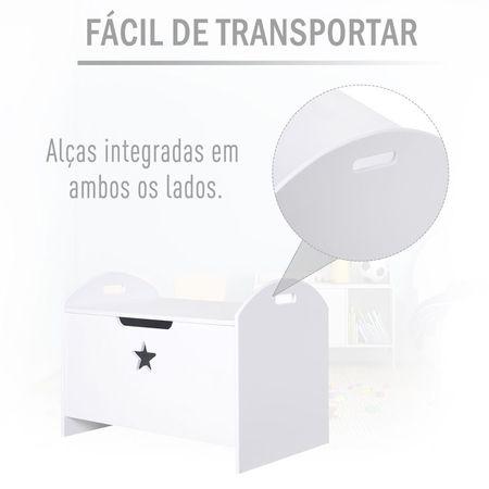 HOMCOM Design da caixa de armazenamento do organizador de brinquedos para crianças com segurança de amplo espaço 62x40x46.5cm 11kg